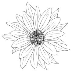 Floral Design Element And Hand Drawn, Vector I . Floral Design Element And Hand Drawn, Vector I … Sunflower Sketches, Sunflower Drawing, Sunflower Stencil, Ukulele Design, Ukulele Art, Sunflower Clipart, Leather Tooling Patterns, Stencils For Wood Signs, Stencil Patterns