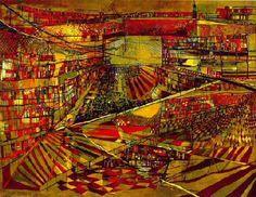 Biblioteca, 1949  Maria Helena Vieira da Silva (1908-1992)  Óleo sobre tela