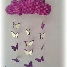 Biblioth Que Roulettes Fille Motifs Fleurs Et Papillons