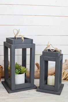 Tutorial and VIDEO to make your own wooden lanterns