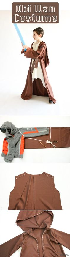 Make your Jedi Master the costume he (or she!) has always wanted! THe best part about this good guys costume is that it's super simple to make. Grab the deets here: http://www.ehow.com/how_12342938_make-obiwan-costume-kids.html?utm_source=pinterest.com&utm_medium=referral&utm_content=freestyle&utm_campaign=fanpage