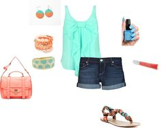 """Coral Me Up :)"" by sierraalliepalmer on Polyvore"