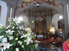 Interior da bela Capila del Pocito, no entorno da Basílica de N Sra de Guadalupe,cidade do México. Foto : Cida Werneck