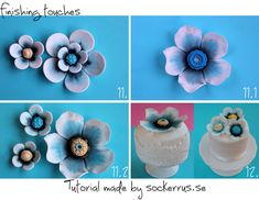 Tutorial  big sugar flowers steg för steg beskrivning sockerblommor