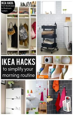 Some of the very best IKEA Hacks and DIY ideas to help Simplify your life and your morning! No one does home organization like Ikea!