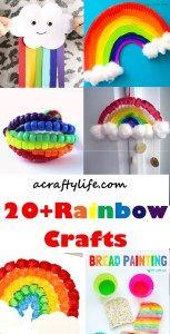 20 plus rainbow kids crafts - acraftylife.com