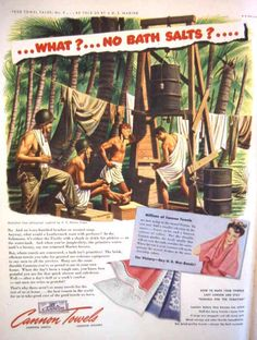 """Army Day – Crocodiles Keep Out"" Cannon Towel Ads, 1943"