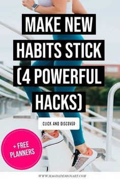 How to create good habits and make them stick in 4 easy steps? Click and find out now! :-) #habits #selfdevelopment #personalgrowth #personaldevelopment #planning #planner #planners #habittracker #lifehacks #goalsetting #goals Good Habits, Healthy Habits, Healthy Moms, Self Development, Personal Development, Life Advice, Printable Planner, Better Life, Self Improvement