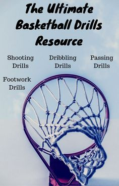 The ultimate BASKETBALL DRILLS resource is a go-to post for players and coaches who want to improve shooting, passing, dribbling and footwork (READ MORE) #basketballdrillsshooting