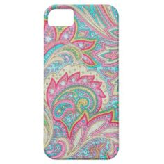 Girly pink paisley Case-Mate iPhone 5 iPhone 5 Case