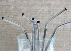 Stainless steel straws, nice!