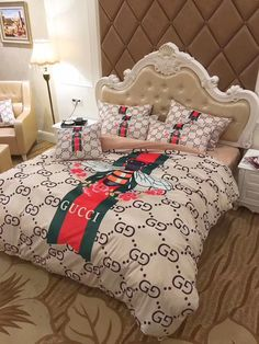 Best bed linens for your home Dream Rooms, Dream Bedroom, Girls Bedroom, Gucci Bedding, Luxury Bedding, My New Room, My Room, Rooms Home Decor, Bedroom Decor