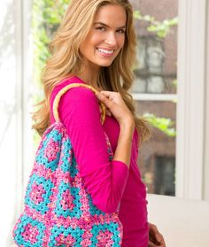 Granny Square Purse ~ Nice, simple pattern for an eye-catching purse!
