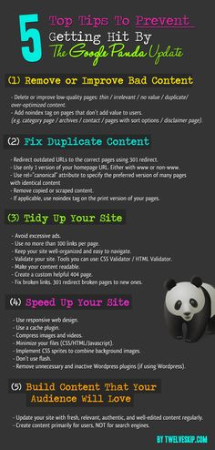 Learn how to prevent a Google Panda Penalty http://www.twelveskip.com/marketing/seo/182/avoid-google-panda-penalty