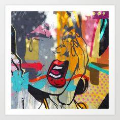 pop art comic graffiti miami beach street art Art Print by Jennifer Jackson .photography. - $30.00