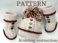 Most current Absolutely Free knitting baby set Thoughts Knitting PATTERN Knitted Baby Set Baby Shoes Baby Beanie Baby Knitting Patterns, Knitting Baby Girl, Baby Girl Patterns, Kids Patterns, Free Knitting, Baby Bonnet Pattern, Baby Shoes Pattern, Beanie Pattern, Beanie Babies