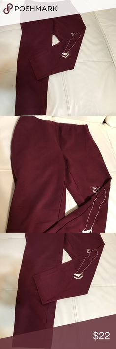 """ALFANY STRETCH PANTS Gorgeous pants in perfect condition, beautiful fall/winter color , lots of stretch , skinny legs , length 27"""", elastic waist Alfani Pants Skinny"""