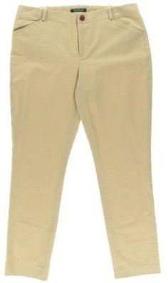 Polo Ralph Lauren Da Uomo In Cotone Khaki Pieghe Sul Davanti Pantaloni Taglia 36 Ture 100% Guarantee Uomo: Abbigliamento Abbigliamento E Accessori