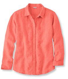 #LLBean: Premium Washable Linen Shirt, Long-Sleeve Embroidered