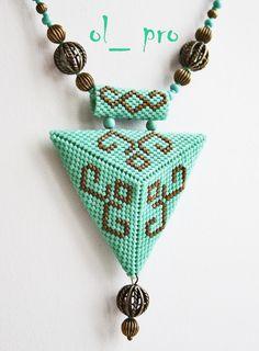 Бирюзовый треугольник | biser.info - всё о бисере и бисерном творчестве