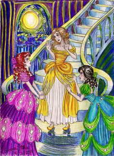 Not going to the ball by ~almightystarfish on deviantART ~ Cinderella & her stepsisters
