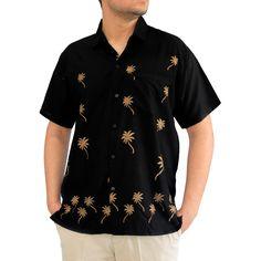 835a9bd7 La Leela Men's Beachwear Aloha Button-down Casual Office Short-sleeved Hawaii  Shirt Aloha