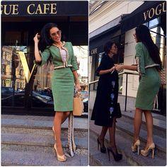 Dior Cannage Heels worn by Olesya Malinskaya http://jetsetbabe.com/dior-cannage-heels