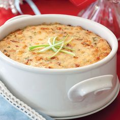 These baked grits are loaded with smoky bacon, creamy Gouda, and sweet corn.more great recipes by ordering your subscription of Cooking with Paula Deen  Bacon Breakfast, Breakfast Dishes, Breakfast Casserole, Breakfast Recipes, Breakfast Time, Grits Casserole, Casserole Recipes, Hominy Casserole, Cereal Recipes