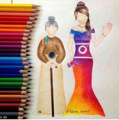 hïp-hop to Räp 😈 Sketches Of People, Drawing People, Art Sketches, Cute Disney Drawings, Cute Drawings, Bild Girls, App Drawings, Social Media Art, Amazing Drawings