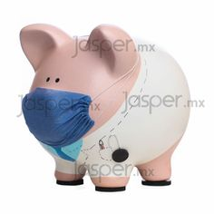 Alcancía de cerdito - Doctor Pottery Painting, Ceramic Painting, Wooden Piggy Bank, Pig Bank, Mini Pig, Cute Piggies, Felt Applique, Money Box, Novelty Gifts