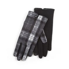 Isotoner Ladies Woven Check Gloven with Thermal Palm Fabric for Comfort and Warmth. Palm, Gloves, Nice, Check, Fabric, Tejido, Tela, Cloths, Fabrics