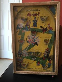 Vintage Pinball Game - Poosh-M-Up Jr. (4-in-1) by VintageFamilyGoods on Etsy https://www.etsy.com/listing/462359197/vintage-pinball-game-poosh-m-up-jr-4-in