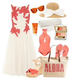 """""""Summer"""" by yinggao ❤ liked on Polyvore featuring Tory Burch, Old Navy, Rip Curl, Dune, Balenciaga, Estée Lauder, Lilliput & Felix, Avène, The Row and beach"""