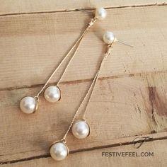 Dream Berry Earrings with pearl in ivory gold chain. Will add glamorous look to your look. #newarrivals #pearlsoftheocean #hanging #earrings #festivefeel
