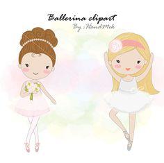 Ballerina clipart girl ballet dancingblack girl by HandMek Ballerina Art, Ballet Art, Little Ballerina, Ballet Dance, Ballet Crafts, Vintage Mermaid, Cute Clipart, Adult Cartoons, Nursery Wall Art