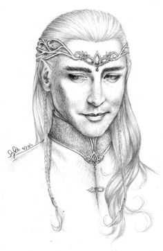fan art: Lee Pace as Thranduil by ~Lomelindi88 at deviantart