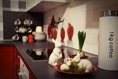 Geschirr beplanzen Tischdekoration Frühling