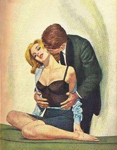 Love Art Romance Feelings 30 Ideas For 2019 Painting Love Couple, Couple Art, Sexy Painting, Romance Art, Vintage Romance, Vintage Pop Art, Retro Art, Arte Do Pulp Fiction, Art Beauté