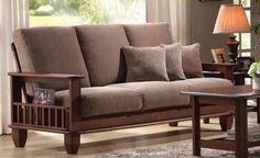 Sofá de Madeira são sempre tendência de mobiliário elegante e sofisticado.