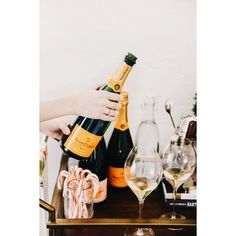 Veuve Clicquot Yellow Label Brut Champagne with Ice Jacket - Bottle Champagne Brands, Champagne Taste, Veuve Cliquot, Happy Merry Christmas, Orange Party, Dom Perignon, Wine Photography, Moet Chandon, Grape Juice