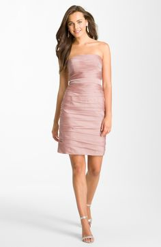 A go-to strapless dress for summer events