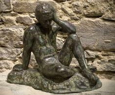 """Igor Thinking"" in Bronze by Raffaello C. Romanelli"