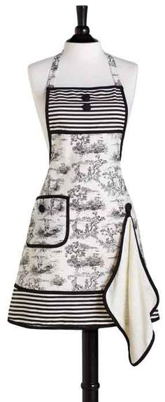i am notoriously messy in the kitchen so i have been looking for an apron. looks like i found it!
