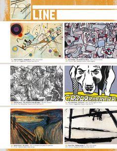 Resource: LINE (Element Binder Notes) great resource Elements Of Art Line, Elements And Principles, Art Doodle, Classe D'art, Art Handouts, 6th Grade Art, Art Basics, Inspiration Art, Art Terms