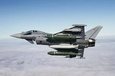 German Air Force Eurofighter Typhoon  Armed with Taurus cruise missiles and Iris-T air to air missiles.