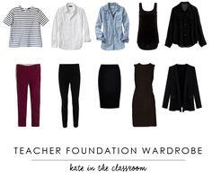 Teacher Wardrobe: Make a cute capsule wardrobe to wear to class ...