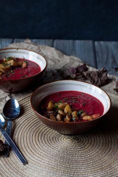 sweet potato + beet soup