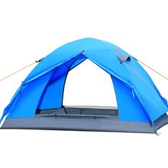 3-4 Person Quick Automatic opening Tent 3 season 200*180*130cm Double Layer Outdoor Camping Hike Travel Play Tent Aluminum Pole