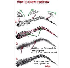How to draw eyebrows!