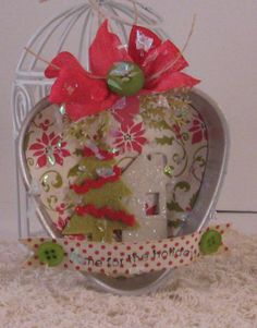 Home for the holidays - Vintage Tart Tin Ornament
